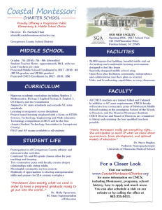 CMCS Middle School Fact Sheet