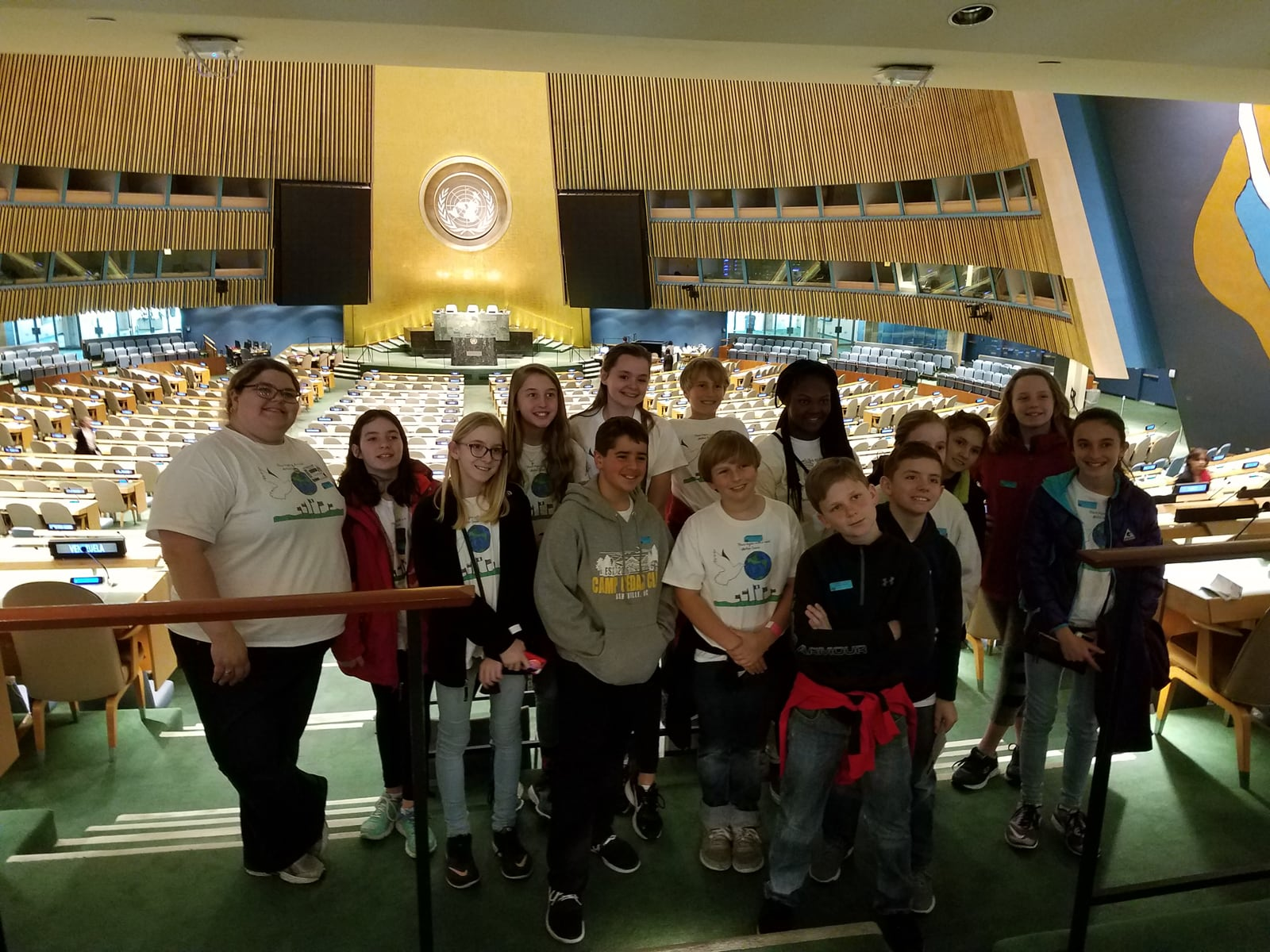 Sixth-year students at the United Nations in New York City