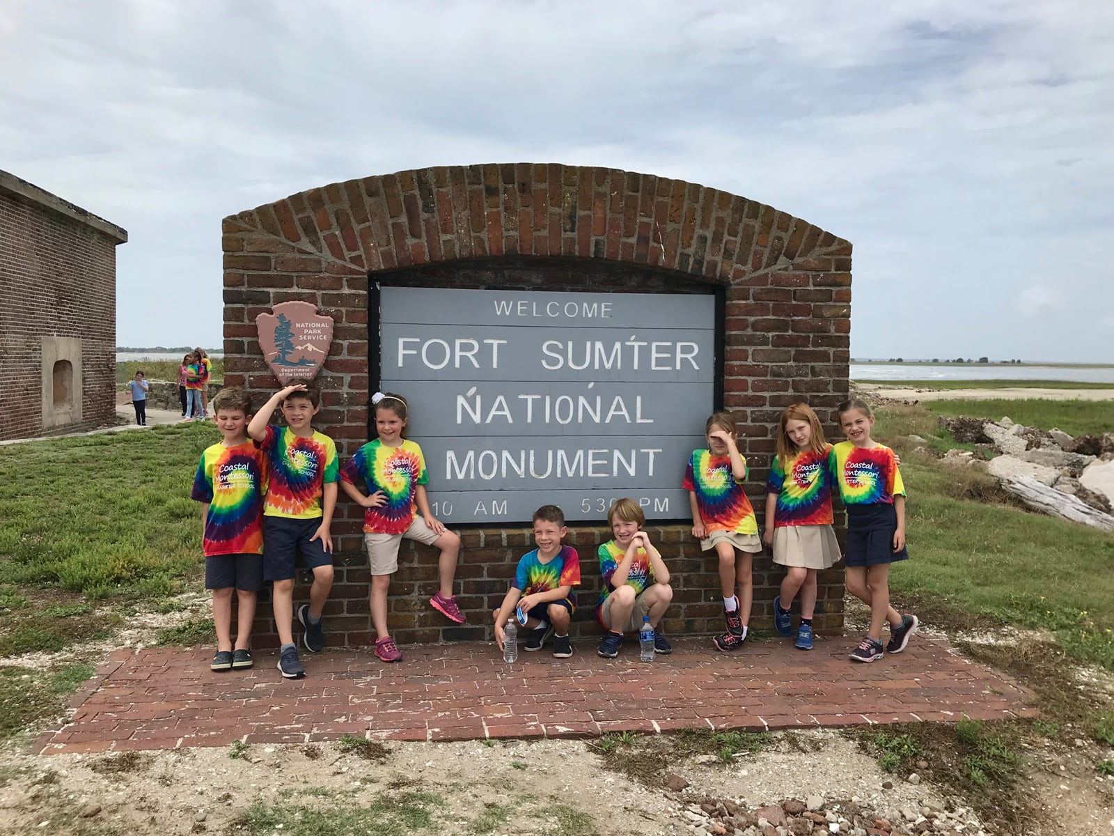 Lower Elementary students at Fort Sumter National Monument
